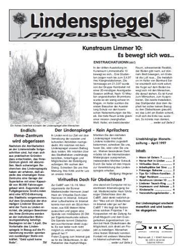 Erste Ausgabe des Lindenspiegel